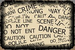 Warning, Caution, Crime, Police  signs Royalty Free Stock Photography