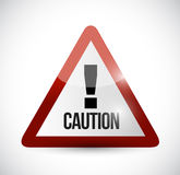 Warning caution sign illustration design Royalty Free Stock Photo