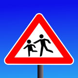 Warning children sign Stock Photo