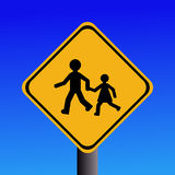 Warning children sign Royalty Free Stock Photography