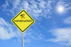 Warning construction sign Stock Photography