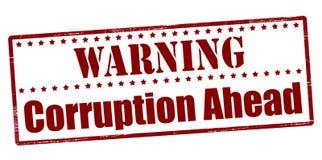 Warning corruption ahead Stock Photo