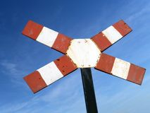 Warning cross for single-track level crossing Royalty Free Stock Images