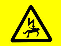 Warning: danger of death sign Royalty Free Stock Images