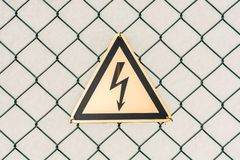 Warning about danger due to high voltage royalty free stock photography