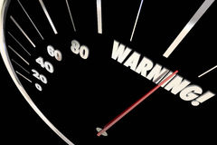 Warning Danger Emergency Trouble Words Speedometer 3d Illustrati Royalty Free Stock Photos