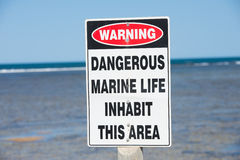 Warning Danger Marine Species Stock Photos