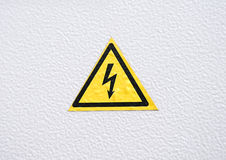 Warning Danger sign on metal Royalty Free Stock Photo