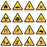 Warning and danger signs Royalty Free Stock Photo