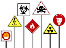 Warning / Danger Signs Royalty Free Stock Photo