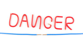 Warning of danger Royalty Free Stock Photography