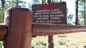Warning. Dangerous Cliffs. stock video
