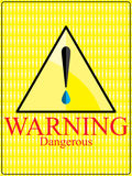 Warning dangerous eye drop sign Stock Photo