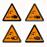 Warning dangerous products symbol Royalty Free Stock Photography