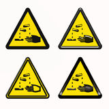 Warning dangerous products symbol Royalty Free Stock Photos