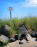 Warning Dangerous Undertow Sign Royalty Free Stock Photography