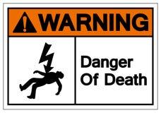 Warning Of Death Symbols Sign, Vector Illustration, Isolated On White Background Label. EPS10 stock illustration