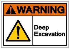 Warning Deep Excavation Symbol Sign, Vector Illustration, Isolate On White Background Label. EPS10. Warning Deep Excavation Symbol Sign, Vector Illustration vector illustration