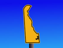Warning Delaware sign Royalty Free Stock Images