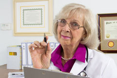 Warning des Doktors? Stockfoto