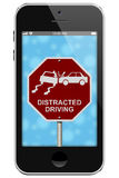 Warning of Distracted Driving Stock Image