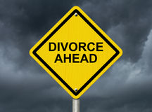Warning of Divorce is soon Stock Photo