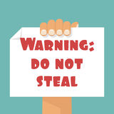 WArning: DO NOT STEAL Royalty Free Stock Photography