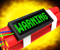 Warning Dynamite Sign Means Caution Or Danger Royalty Free Stock Photos