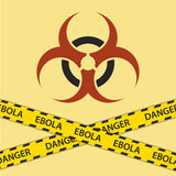 Warning ebola biohazard sign Royalty Free Stock Photography