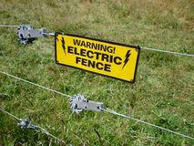 Warning-Electric Fence Royalty Free Stock Image
