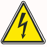 Warning electric sign Royalty Free Stock Image
