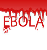 Warning epidemic Ebola virus, bloody font Royalty Free Stock Photos