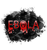 Warning epidemic Ebola virus, grunge background Royalty Free Stock Photos