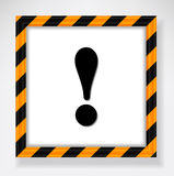 Warning exclamation mark Royalty Free Stock Photography