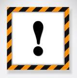 Warning exclamation mark Royalty Free Stock Photography