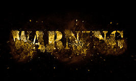 Warning. Explosion on dark background Royalty Free Stock Images