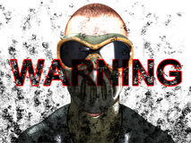 Warning Face Royalty Free Stock Photos