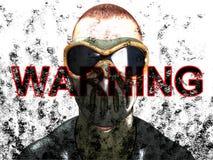 Warning Face Royalty Free Stock Photos