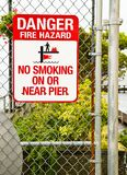 Warning Fire Hazard Royalty Free Stock Photography