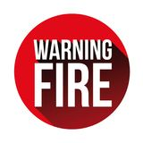 Warning Fire sign red. Vector Royalty Free Stock Photo