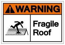 Warning Fragile Roof Symbol Sign, Vector Illustration, Isolate On White Background Label. EPS10 stock illustration
