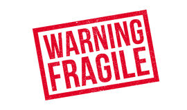 Warning Fragile rubber stamp Royalty Free Stock Photos