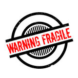 Warning Fragile rubber stamp Stock Image