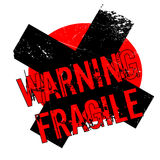 Warning Fragile rubber stamp Royalty Free Stock Images