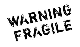 Warning Fragile rubber stamp Stock Photos