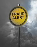Warning of Fraud Stock Image
