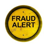 Warning of Fraud. Made in 3d software Stock Photography