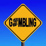 Warning gambling sign Stock Photography