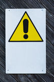 Generic Danger Warning. Posted on a door stock image