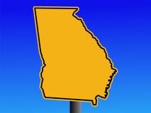 Warning Georgia sign Stock Photo